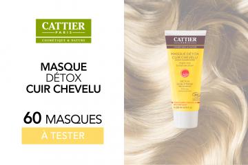 Masque Détox Cuir Chevelu de Cattier : 60 soins à tester !
