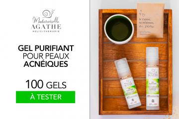 Gel purifiant peaux acnéiques Mademoiselle Agathe : 100 soins à tester !