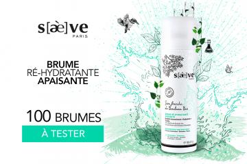 Brume Ré-hydratante Apaisante : 100 produits à tester !