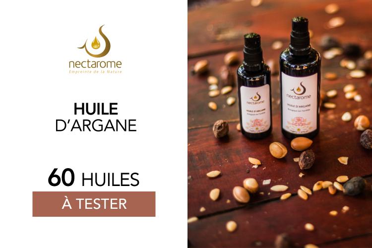 Huile d'argan 50mL de Nectarome : 60 produits à tester !