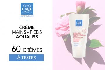 Crèmes Nutri-Hydratantes Mains et Pieds Aqualiss : 60 crèmes à tester