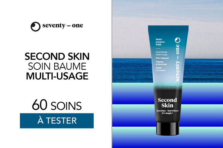 SECOND SKIN - MULTI PURPOSE BALM de SeventyOne Percent : 60 produits à tester !