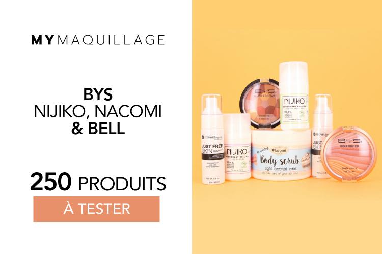 Maquillage, gommage et déodorants bio de chez MY MAQUILLAGE à tester !