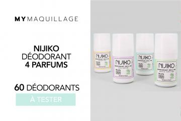 60 Déodorants Nijiko : 4 parfums de chez MY MAQUILLAGE à tester !
