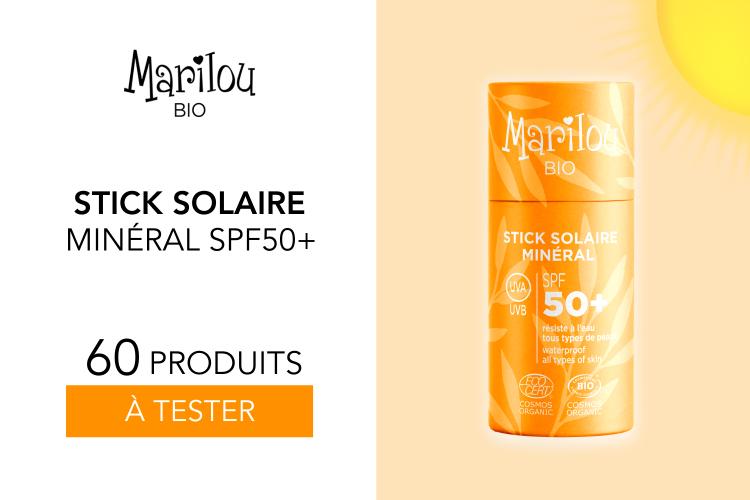 60 Stick Solaire Minéral SPF50+ Zéro Déchet