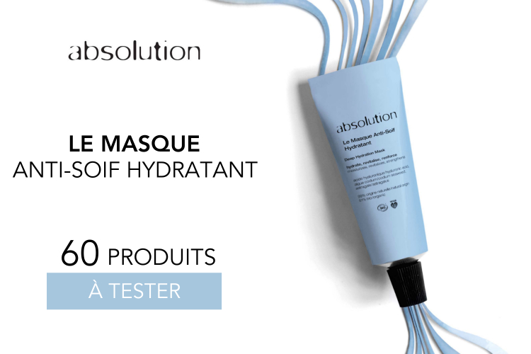 60 masques anti-soif hydratants Absolution à tester