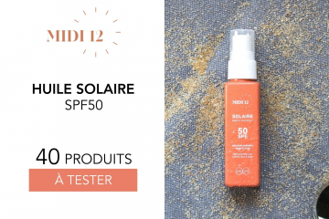 Huile protectrice solaire SPF 50 haute protection