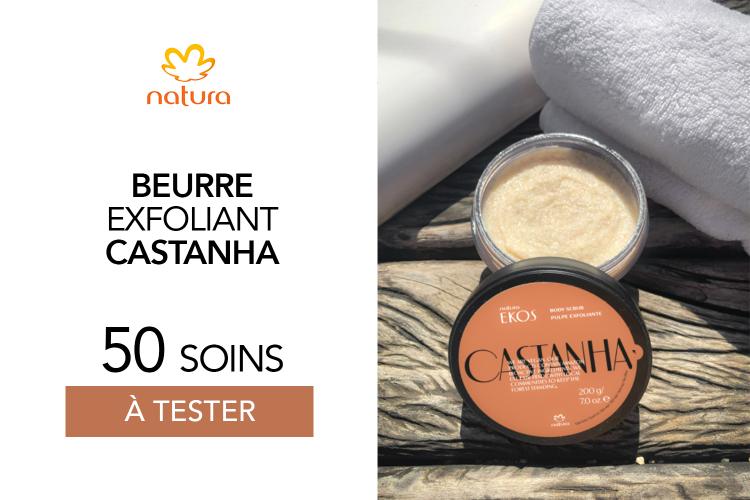Beurre exfoliant Castanha de Natura : 60 beurres à tester !