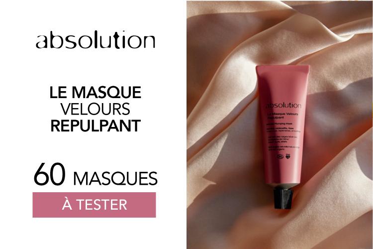 Le Masque Velours Repulpant d'Absolution : 60 masques à tester !