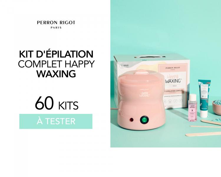 Kit d'épilation complet Happy Waxing Perron Rigot : 60 kits à tester !