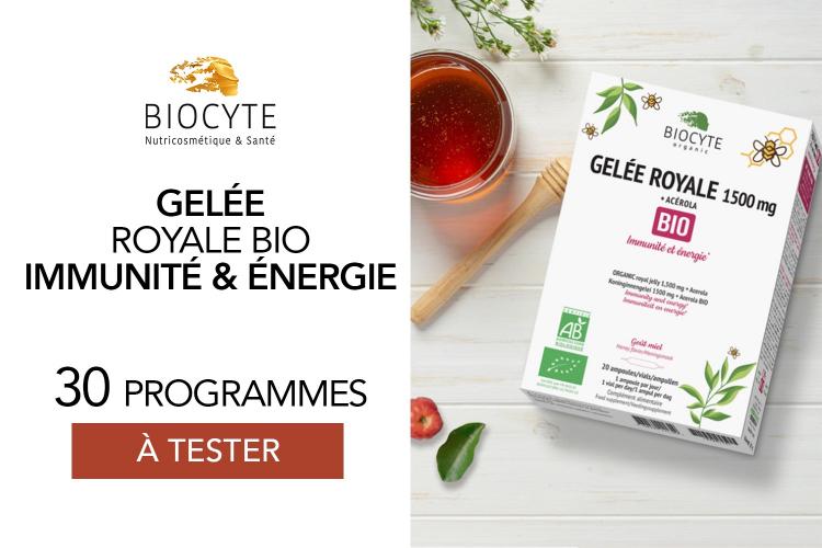 Gelée Royale Bio de Biocyte : 30 programmes à tester !