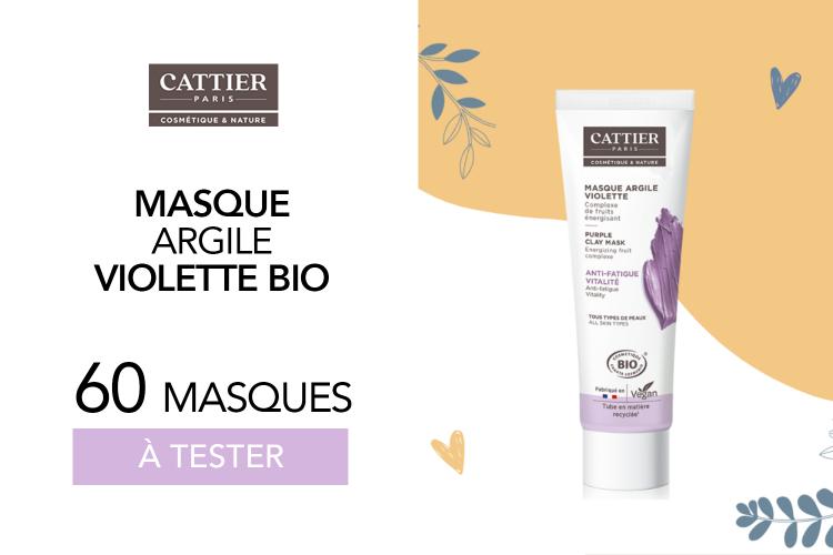 Masque à l'Argile Violette de Cattier : 60 masques à tester !