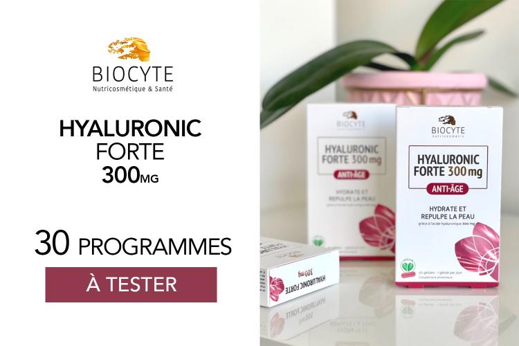 Hyaluronic Forte 300mg de Biocyte : 30 programmes à tester !