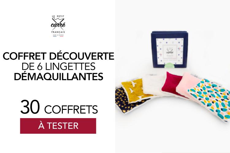 Le Coffret Découverte Le Petit Carré Français : 30 coffrets de lingettes à tester !
