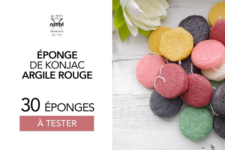 Éponge Konjac Argile Rouge Le Petit Carré Français : 30 éponges à tester !