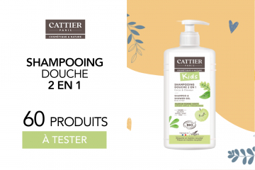 Shampooing Douche Kids 2 en 1 de Cattier : 60 shampooings à tester !