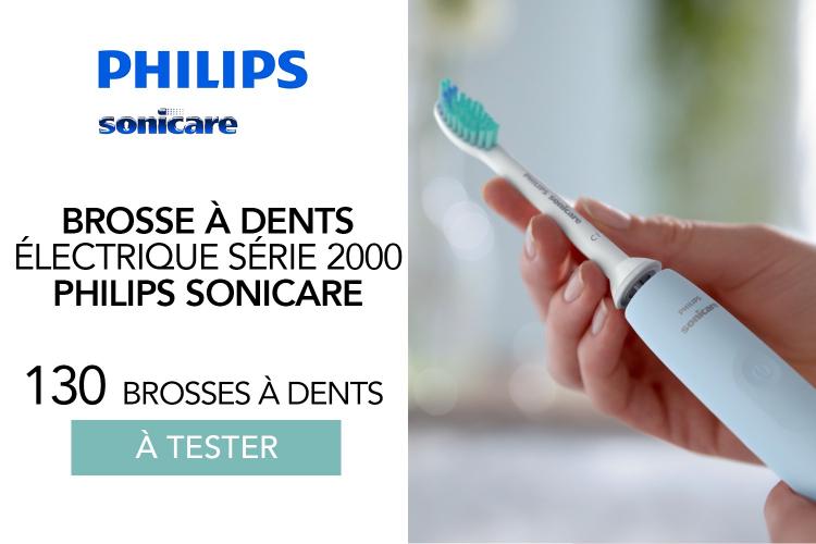 Brosse à dents électrique 2100 Series de Philips Sonicare : 130 brosses à dents à tester !
