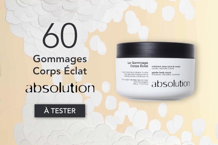 60 Gommages Corps Éclat d'Absolution à tester