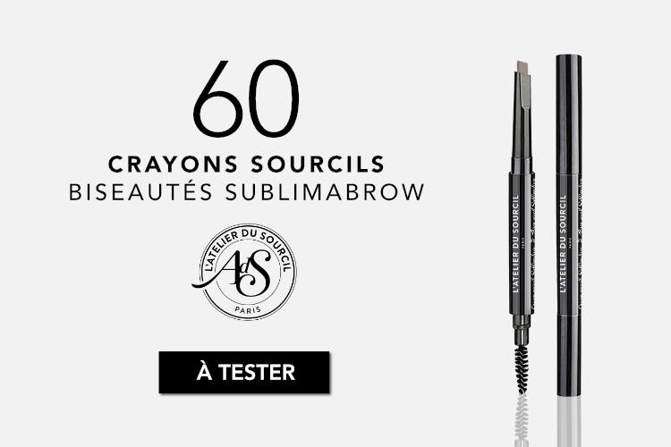 60 Crayons Sourcils Biseautés Sublimabrow de l'Atelier du Sourcil à tester