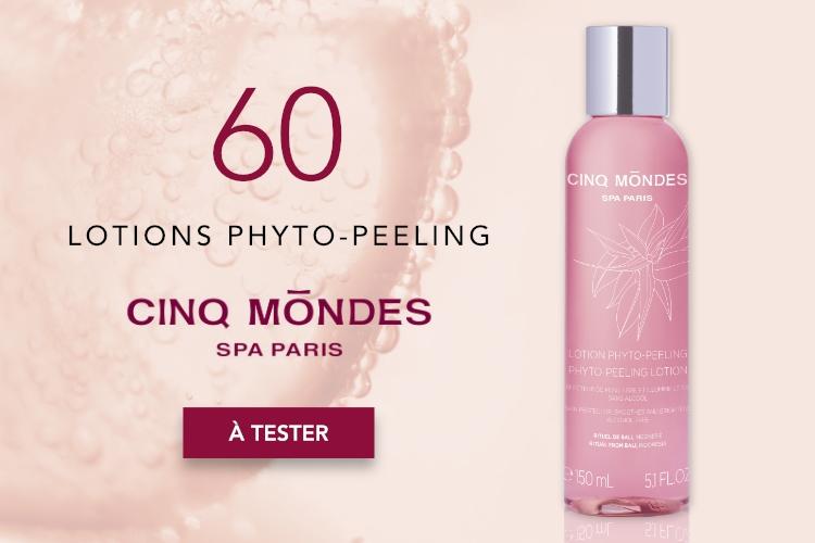 60 Lotions Phyto-Peeling de Cinq Mondes à tester