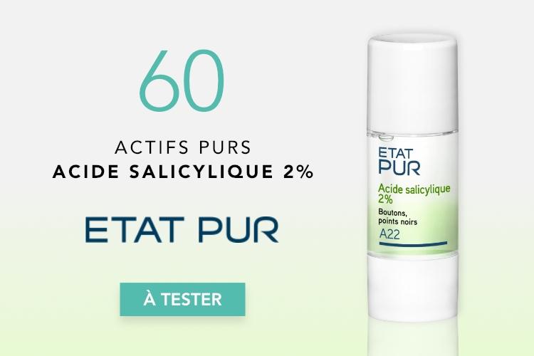 60 Actifs Purs Acide Salicylique 2% d'Etat Pur