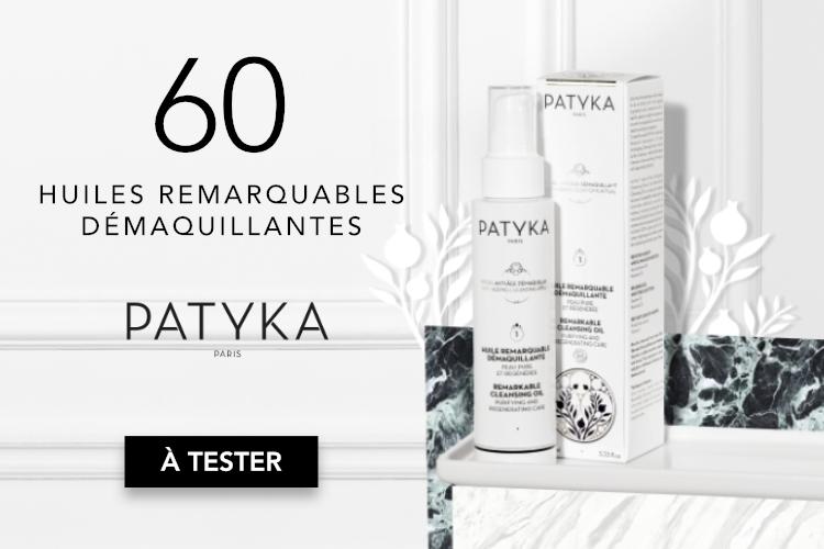 60 Huiles Remarquables Démaquillantes de Patyka à tester