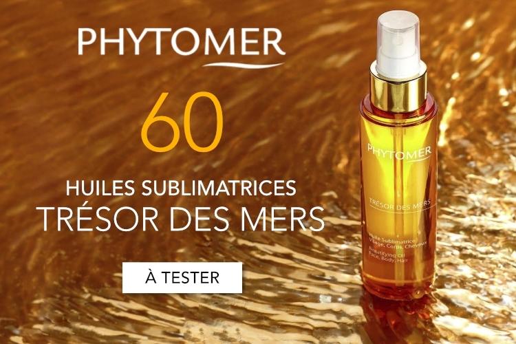 60 Huiles Sublimatrices TRÉSOR DES MERS de Phytomer à tester