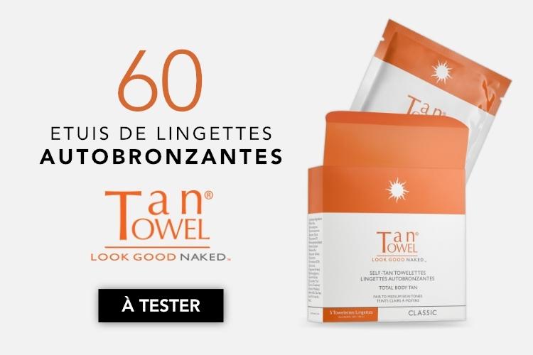 60 étuis de lingettes autobronzantes TanTowel à tester