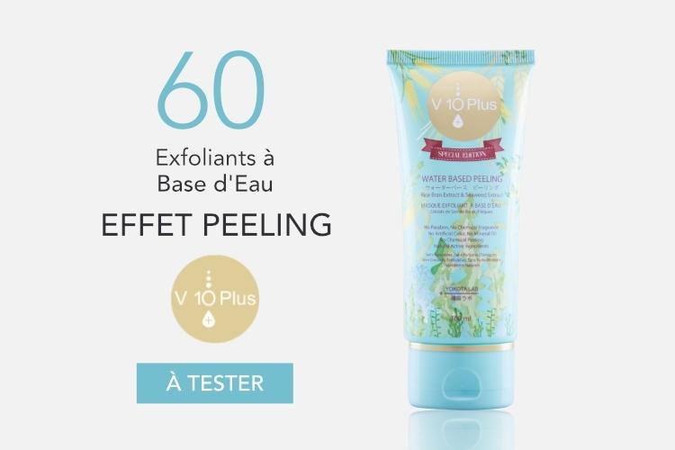60 Masques Exfoliants à Base d'Eau Effet Peeling de V10 Plus à tester