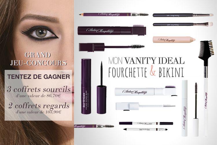 Mon Vanity Idéal et Fourchette & Bikini vous offrent 5 coffrets l'Atelier Maquillage