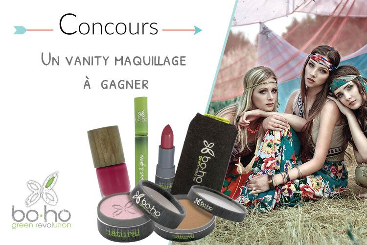 Un vanity maquillage Boho Green à gagner
