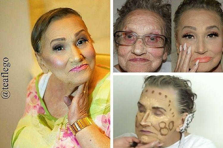 Glam-ma, une grand-mère de 80 ans adepte du contouring