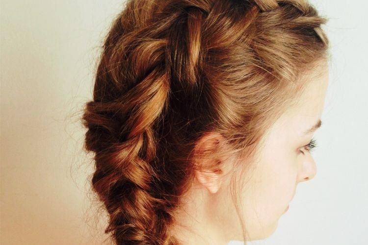 tuto double tresse avec une Dutch Braid et Fishtail Braid