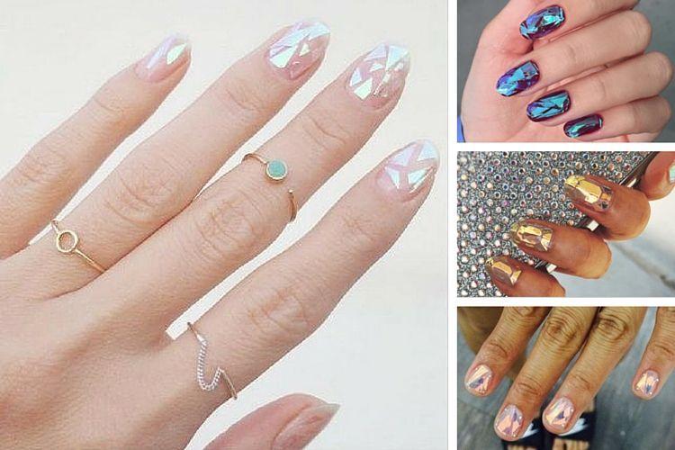 Glass nails : l'effet verre brisé, dernière tendance nail art