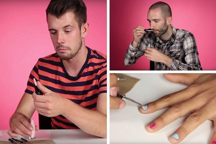 Quand les hommes s'essaient au Nail Art
