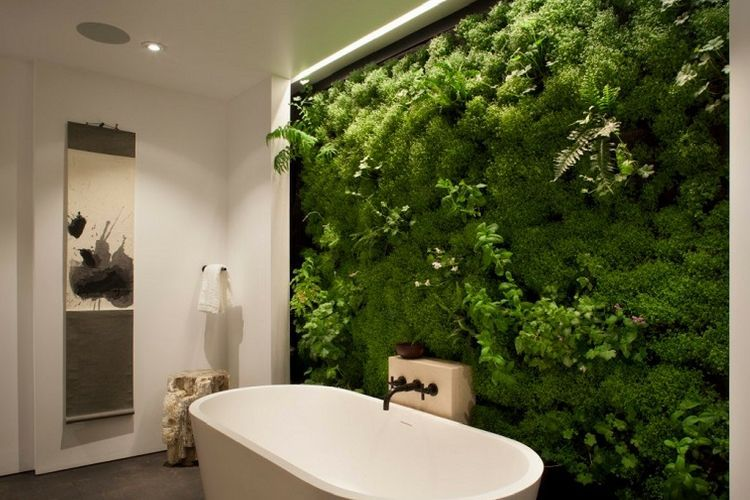 Photo salle de bain zen et nature maison design for Faience salle de bain nature