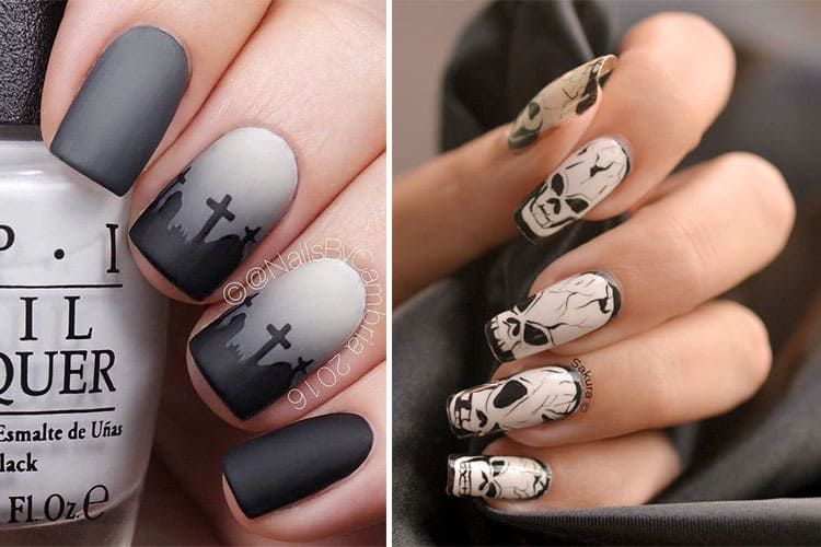 nail art halloween 10 id es horrifiques pour vos ongles. Black Bedroom Furniture Sets. Home Design Ideas