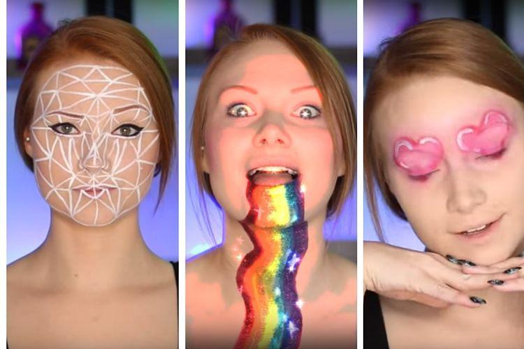 Insolite : Une youtubeuse réalise des maquillages inspirés des filtres de Snapchat