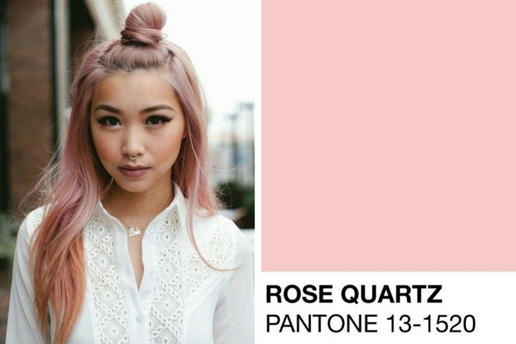 Coloration cheveux rose quartz
