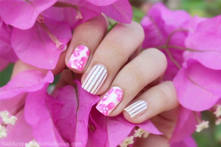 3 nail art qui nous donnent des envies de printemps - Nail art printemps ...