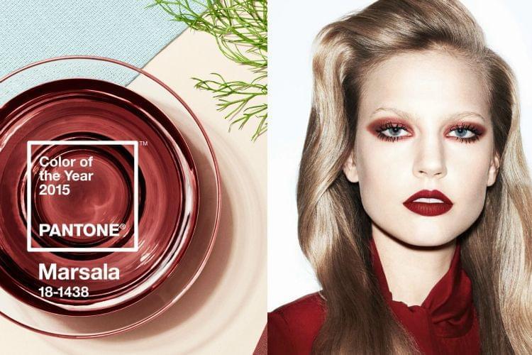 Beauté : comment porter Marsala, la couleur Pantone de l'année 2015?