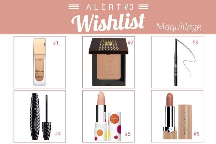 Wishlist alert maquillage : Teint Haute Tenue Clarins, Mascara Outrageous Curl de Sephora...