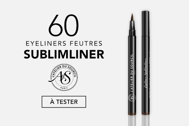 60 Eyeliners Sublimliner de l'Atelier du Sourcil à tester