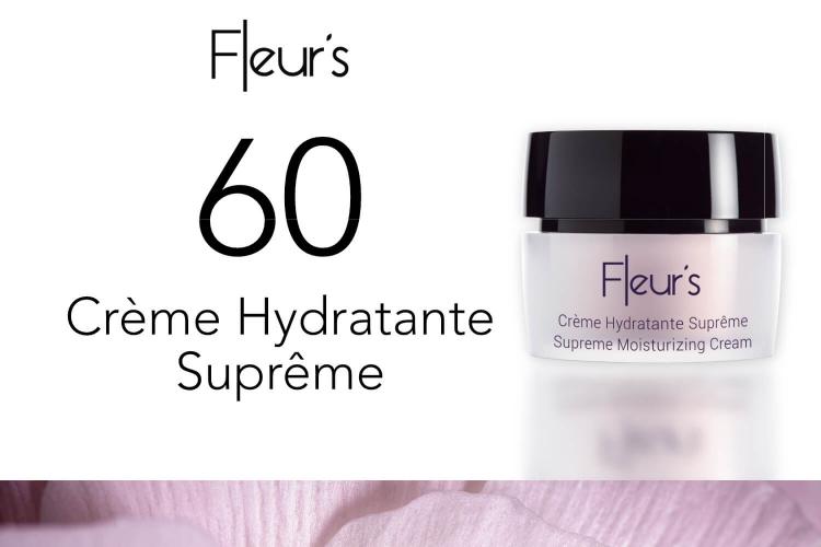 60 Crème Hydratante Suprème de Fleur's à tester