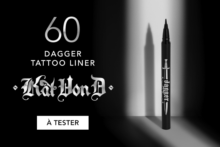 60 Dagger Tattoo Liner Waterproof Liquid Eye-Liner de Kat Von D à tester