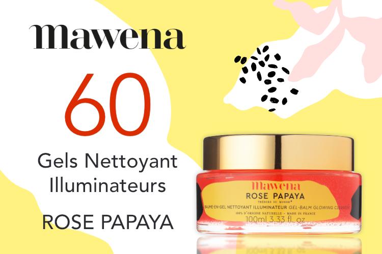 60 Gels Nettoyant Illuminateurs Rose Papaya de Mawena à tester