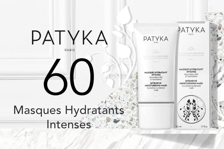 60 Masques Hydratants Intenses de Patyka à tester