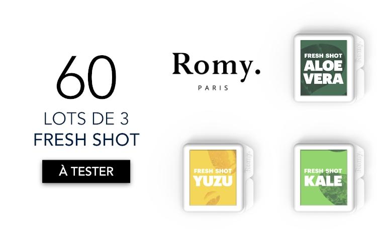60 Lots de 3 Fresh Shot de Romy à tester