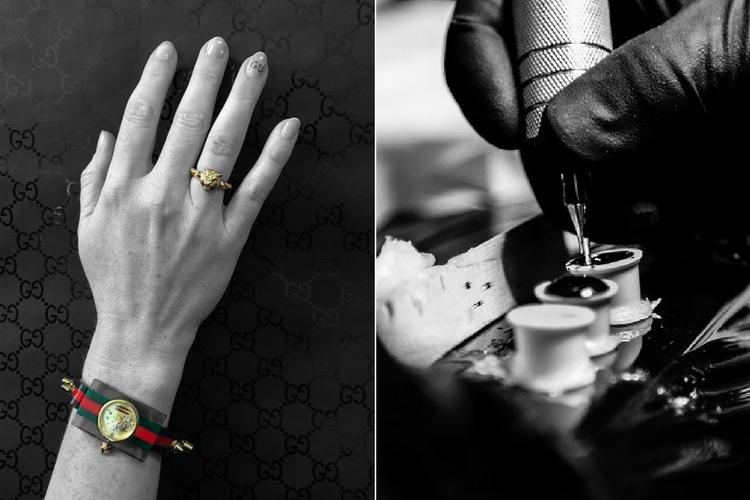 Le tatouage pour les ongles pour des mains stylées