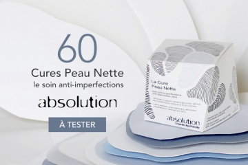 60 Cures Peau Nette, le soin anti-imperfections d'Absolution à tester